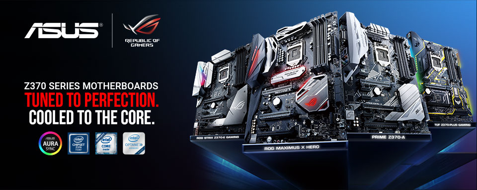 Z370 Series Motherboards. Tuned to Perfection. Cooled to the Core.