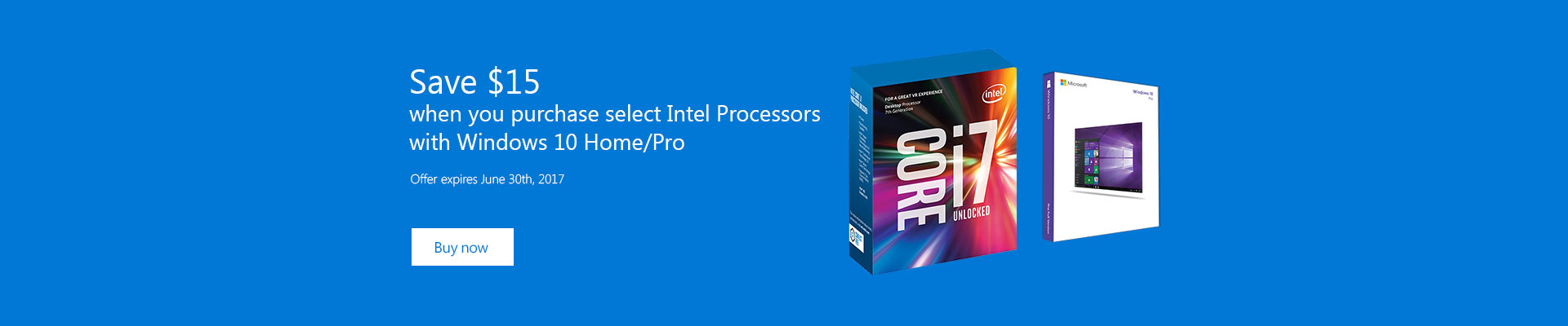 Intel CPU / Windows 10 Bundle
