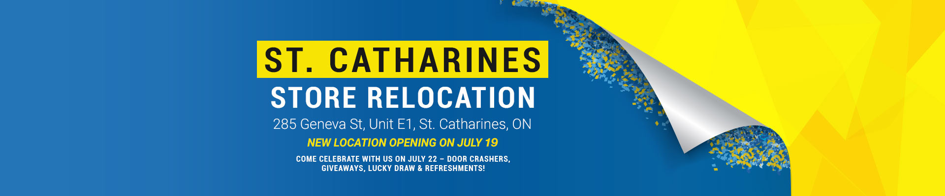 CC St. Catharines Relocation