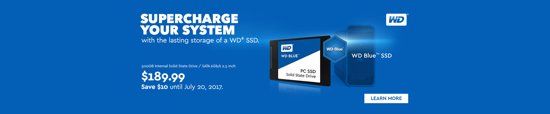 WD Blue 500GB Internal SSD