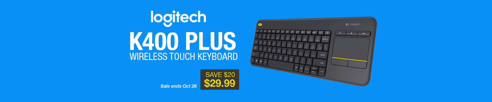 Logitech K400 Plus Wireless Touch Keyboard TV