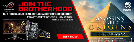 Assassin's Creed Origins game bundle - ASUS MB, VGA, LCD Monitors