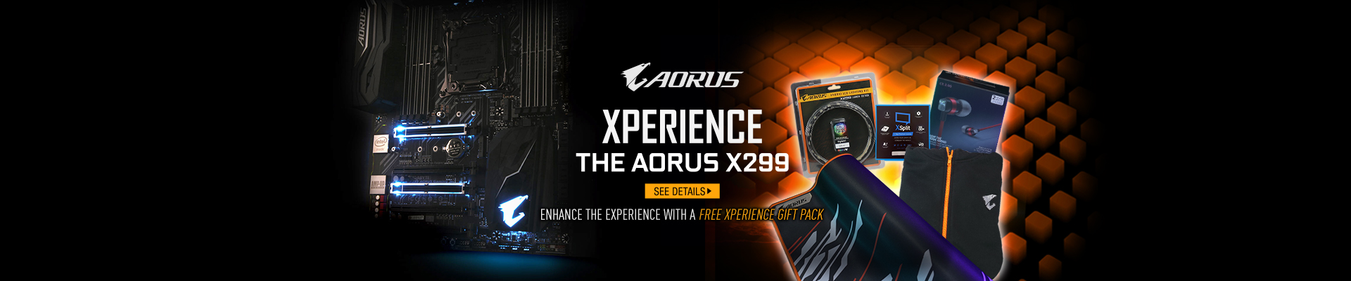 Gigabyte X299 Free Xperience Gift Pack