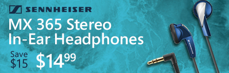 Sennheiser MX 365 Stereo In-Ear Headphones - Blue
