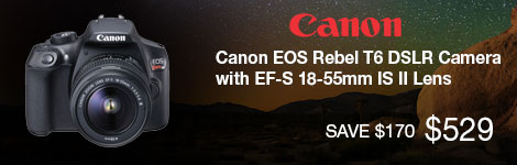 Canon EOS Rebel T6 DSLR with EF-S 18-55mm IS II Lens
