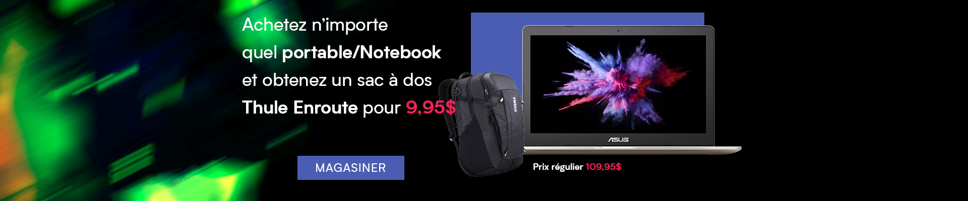 Buy any Laptop/Notebook and get Thule Enroute Backpack for $9.95
