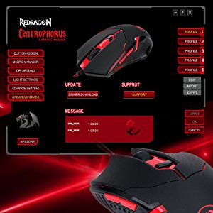 Redragon Centrophorus Gaming Mouse Red M601 Canada Computers Electronics