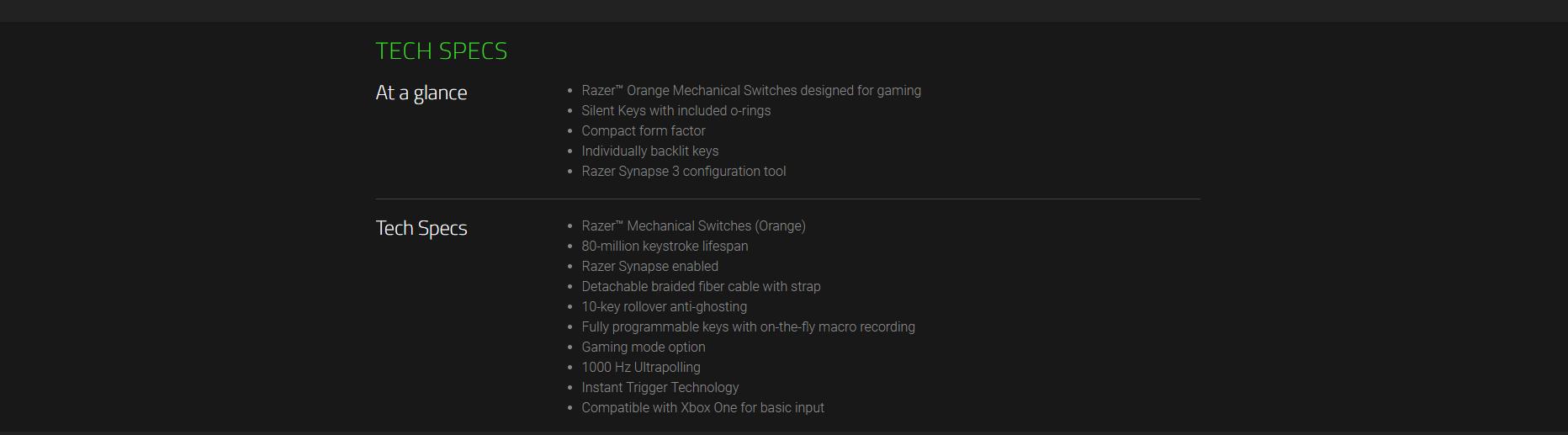 Razer BlackWidow Lite Keyboard Stormtrooper Edition | Canada
