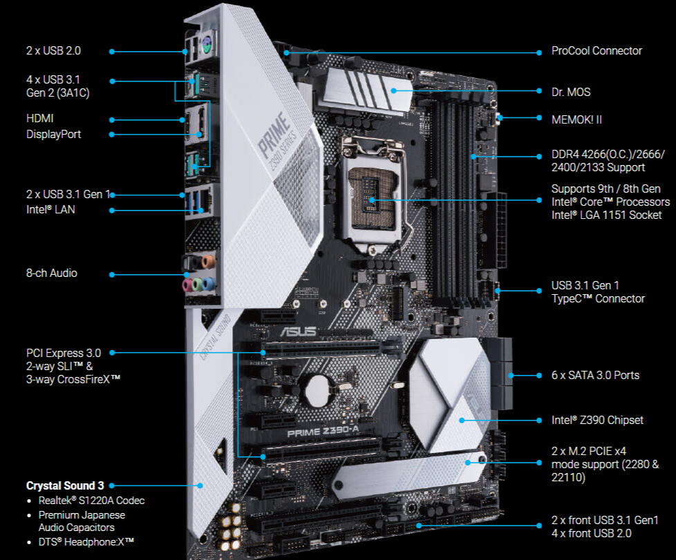 ASUS Prime Z390-A Motherboard   Canada Computers & Electronics