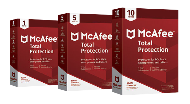 McAfee 1 Year Total Protection 10 Device PC & Mac English